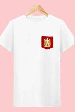 T-shirt Egypte Supporters à Poche blanc Les Pharaons