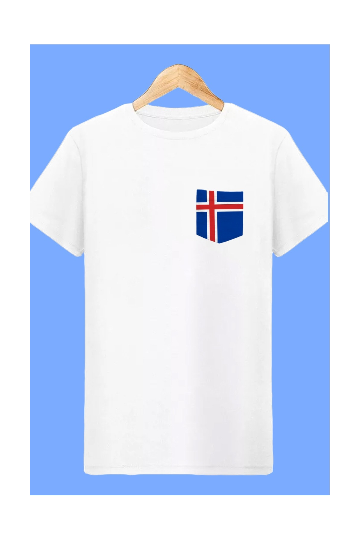 T-shirt Islande 2018 Blanc coupe du monde Football