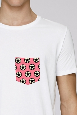 T-shirt Rose Blanc Ballons Pop Football Culture