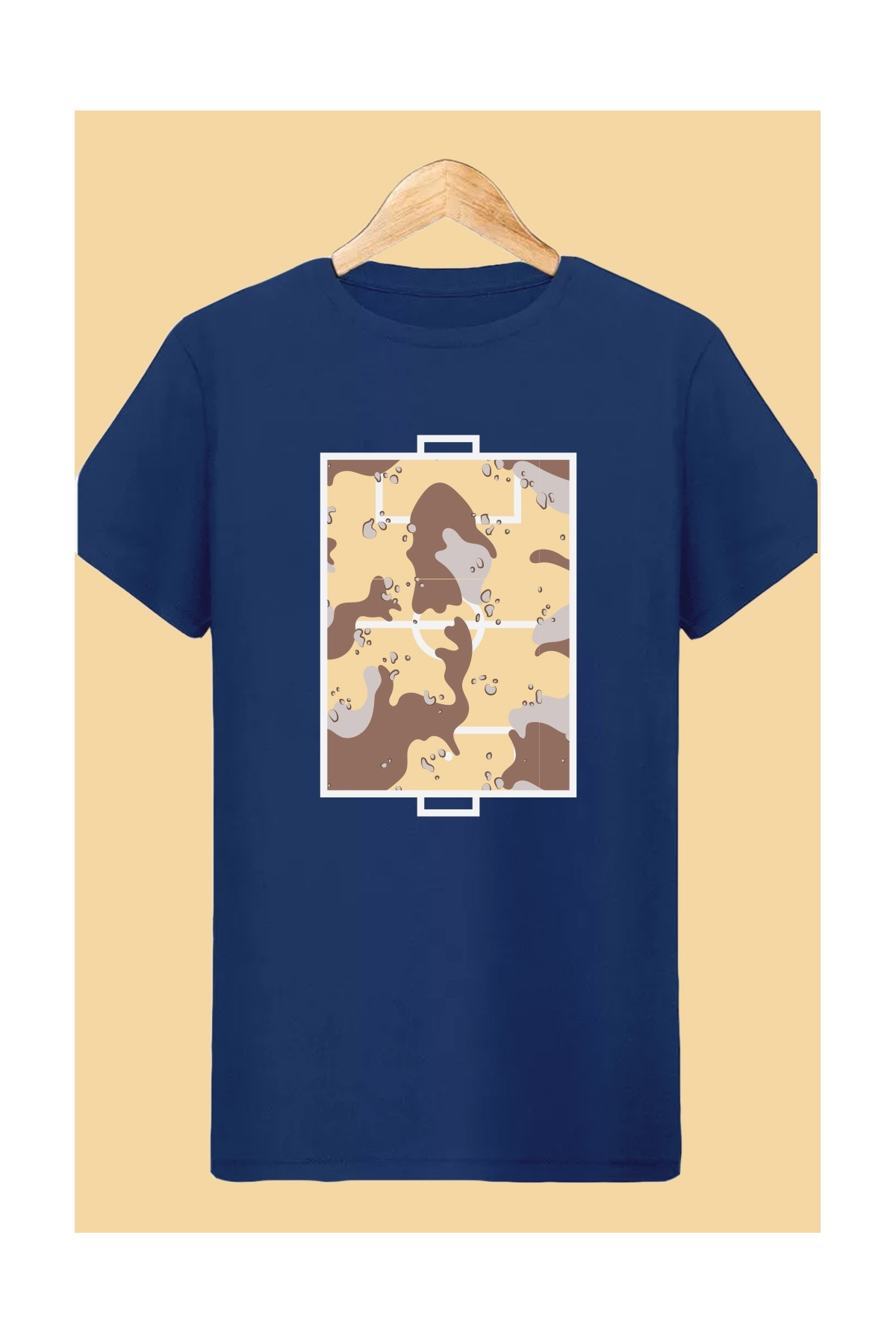 Tee shirt Bleu Football Playground Camo