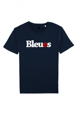 T-shirt Supporters Bleues Velours