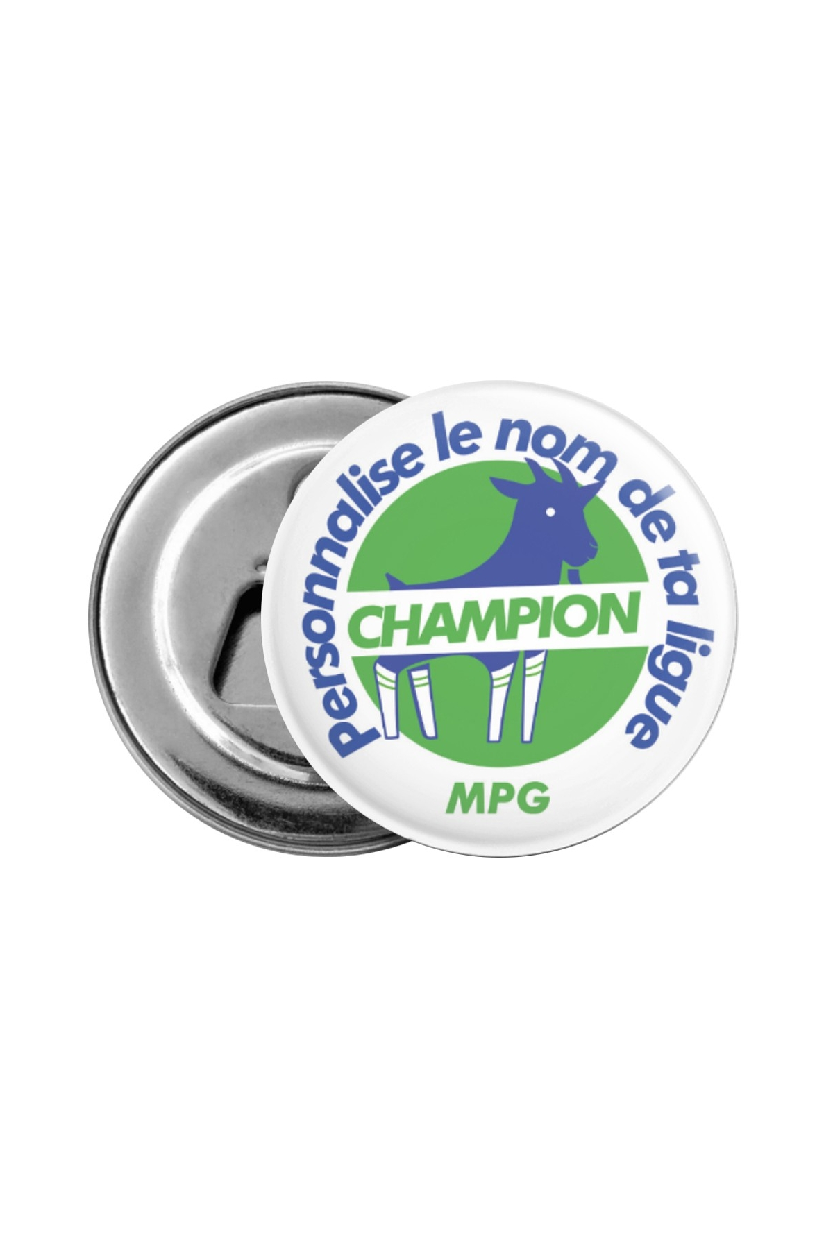 Décapsuleur Champion personnalisable