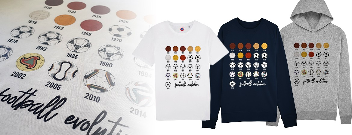 Tee shirt Football evolution ballons